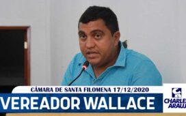 Vídeo: Vereador Wallace Mororó na última sessão da Câmara 2020