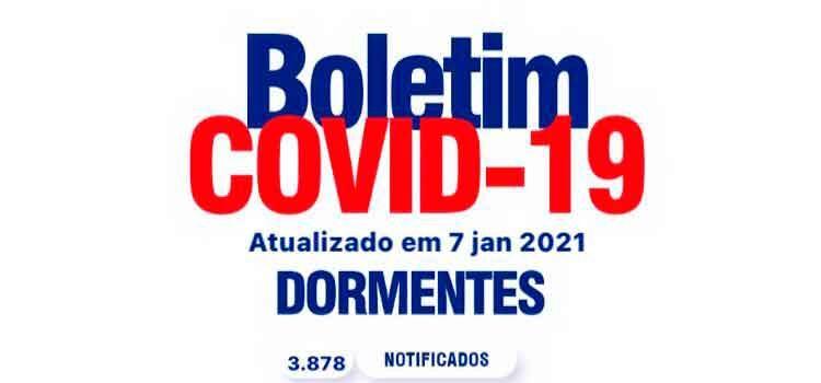 Boletim Covid: Dormentes não registra novos casos nesta quinta (7)