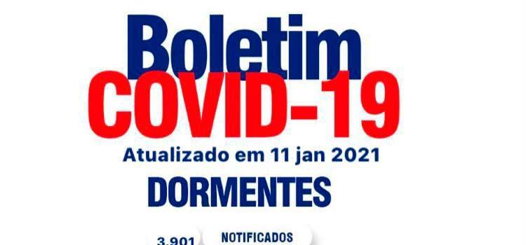 Boletim Covid: Dormentes inicia a semana com 5 casos ativos