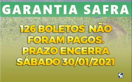 Santa Filomena tem 126 boletos Garantia-Safra não pagos; veja os…