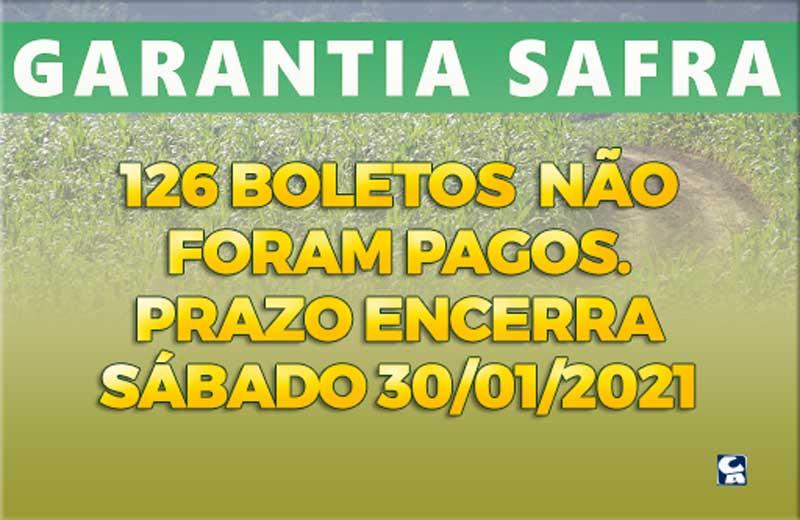 Santa Filomena tem 126 boletos Garantia-Safra não pagos; veja os nomes. Prazo encerra sábado