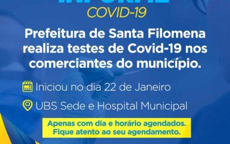 Prefeitura de Santa Filomena realiza testes rápidos da Covid-19 com…