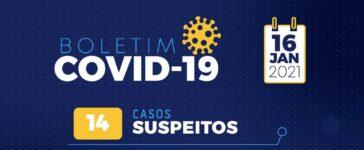 Boletim Covid 16/01: Santa Filomena registra um novo caso positivo