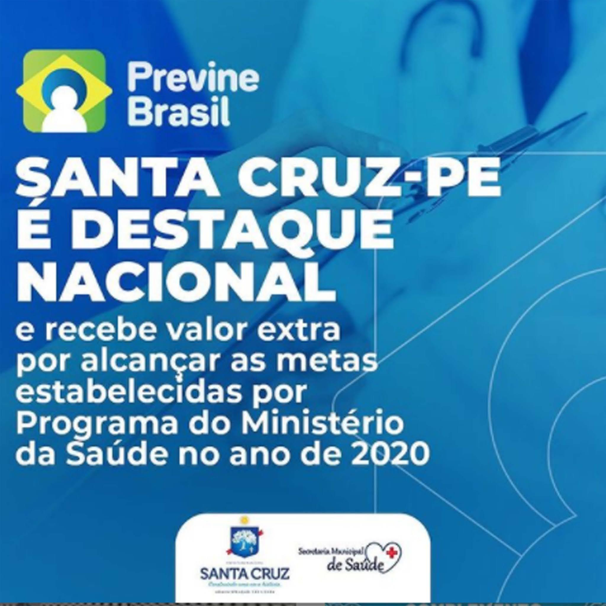 Santa Cruz PE está entre os municípios que alcançaram as…