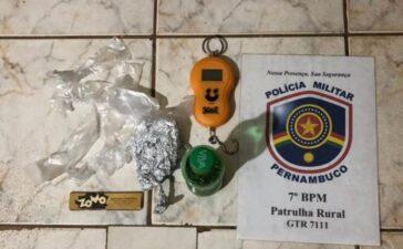 Polícia desvenda tráfico de drogas no distrito Socorro em Santa Filomena; acusado fugiu
