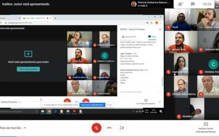 IBGE realiza reunião virtual com autoridades e representantes de Santa…