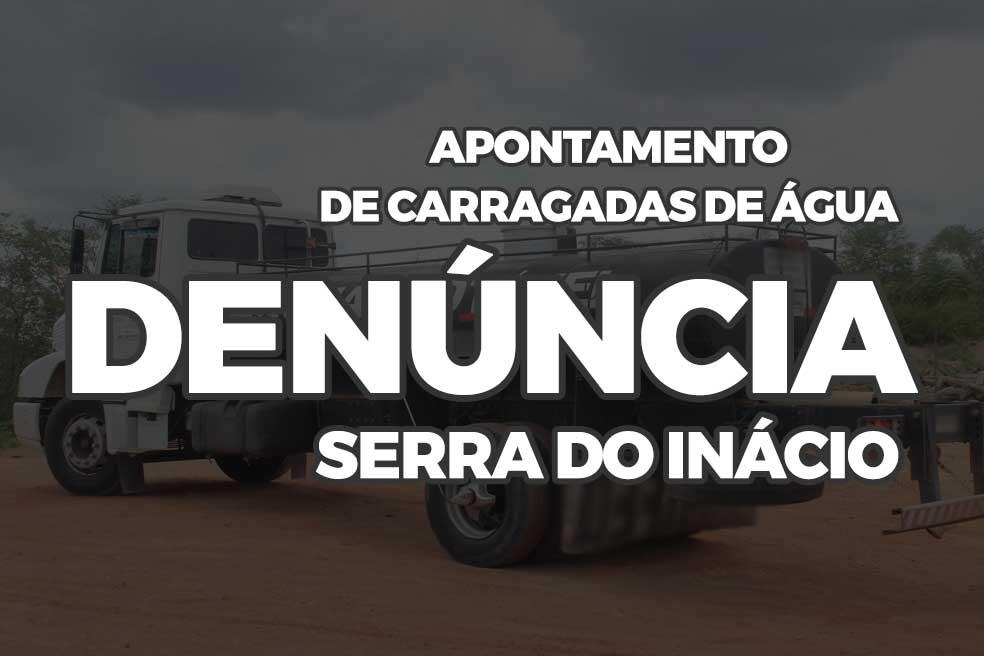 Denúncia no apontamento de carradas d'água do Exército na Serra do Inácio