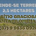 Vende-se: Terreno com 2,5 hectares no sítio Graciosa em Santa Filomena