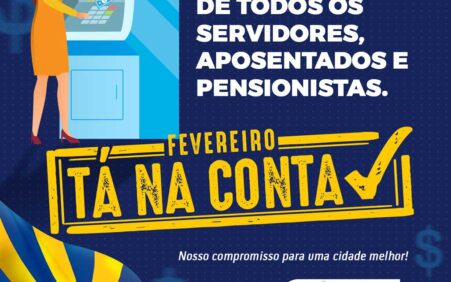 Gestão Gildevan e Francinete paga salário de fevereiro rigorosamente em…