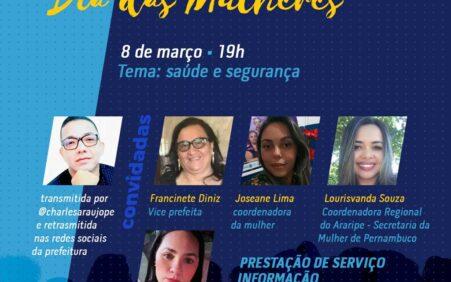 Prefeitura de Santa Filomena promove Super Live em homenagem ao Dia Internacional da Mulher