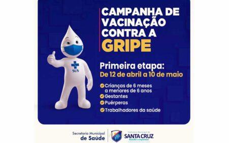 Santa Cruz inicia Campanha de Vacinação contra a Influenza