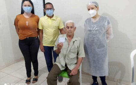 Santa Filomena: Idosos com 85 anos ou mais recebem a 2ª dose contra a Covid-19