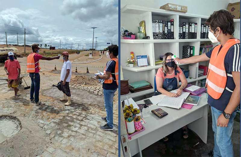 Prefeitura de Santa Filomena realiza ação educativa em prédios públicos para combater a Covid-19