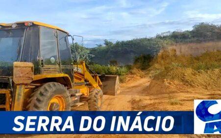 Santa Filomena: Estradas da Serra do Inácio são adaptadas ao período de chuvas