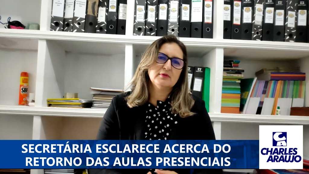 Secretária de Educação de Santa Filomena fala de volta às aulas presenciais; vídeo