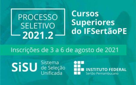 IFSertãoPE vai oferecer 397 vagas em cursos superiores para ingresso…